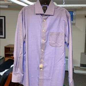 Jos A Bank Tailored Fit Blue Glen Plaid Shirt